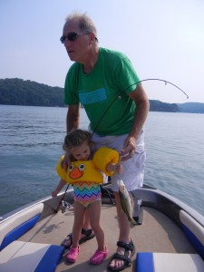 Annie's first bass, July 2011, Ft. Loudon Lake