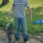 Kyle Smith with 33 lb catfish, Watts Barr Lake, July 2006